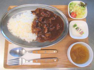 欧風カレーライス(辛口)セット:900円