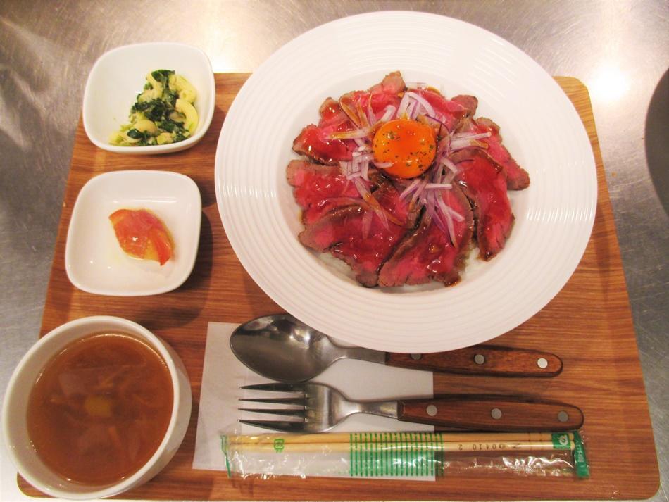 特製ローストビーフ丼セット:1500円